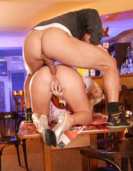 Fat barmaid is fucked at work 2
